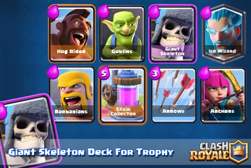 Strategi Deck Giant Skeleton Arena 6 Clash Royale