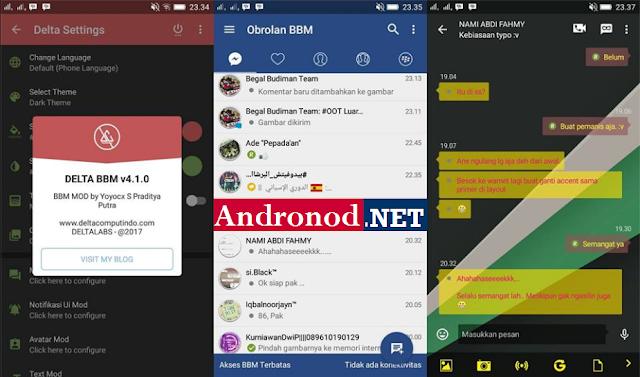 BBM MOD DELTA V4.1.0 Based V3.2.5.12 Apk Clone | Not Clone