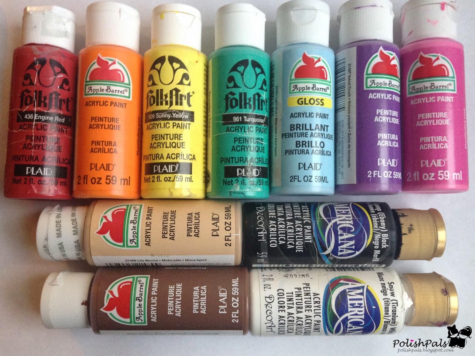 Polish pals faq nail art brushes for Using acrylic paints