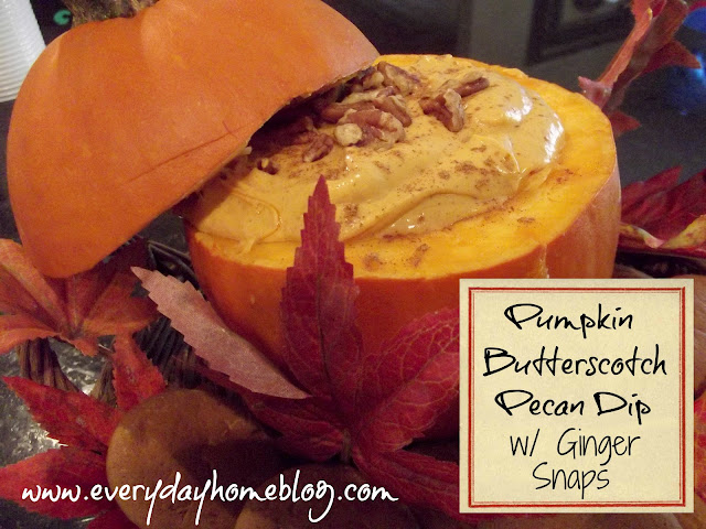 pumpkin, dip, recipe, butterscotch, gingersnap cookies, pecan, thanksgiving, easy dip recipes