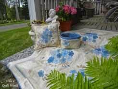 Flower quilt blanket and pillowcase, Cherry blossom
