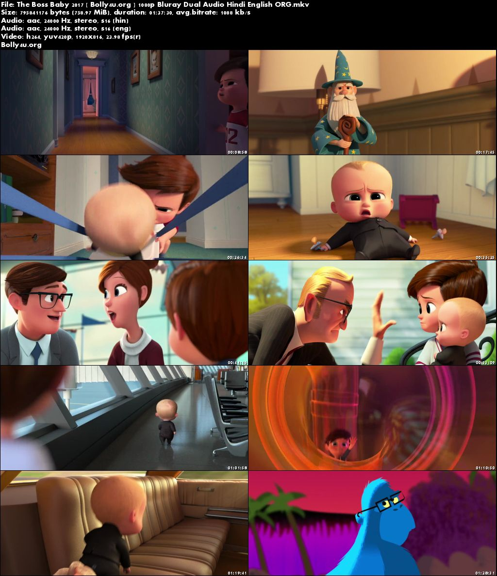 The Boss Baby 2017 BluRay 750MB Hindi Dual Audio ORG 720p Download