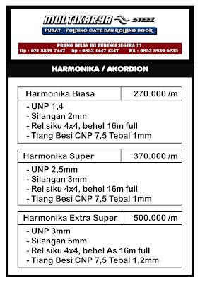 gambar daftar harga pintu harmonika bandung murah