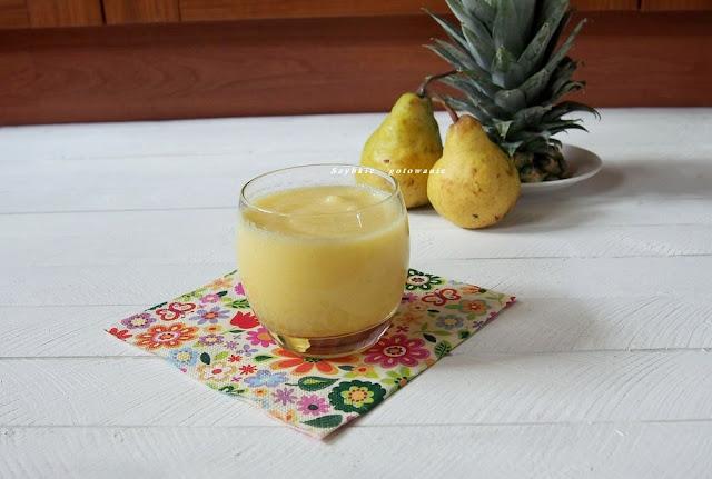 Koktajl ananas gruszka