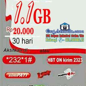 Cara Daftar CUG Telkomsel Paket Internet 1.1GB 20 Ribu Perbulan