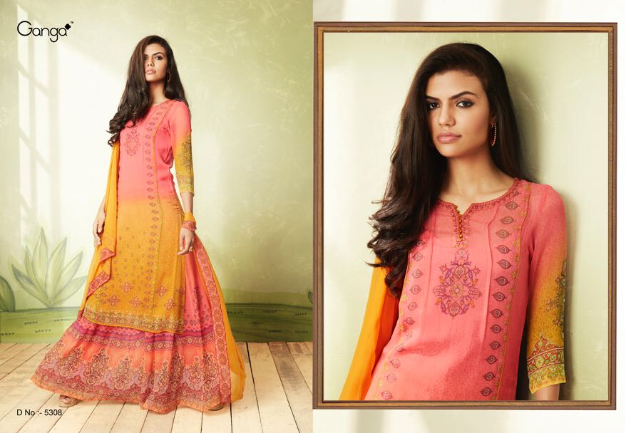 Ganga by Essence New Arrival georgette Salwar suit Collection