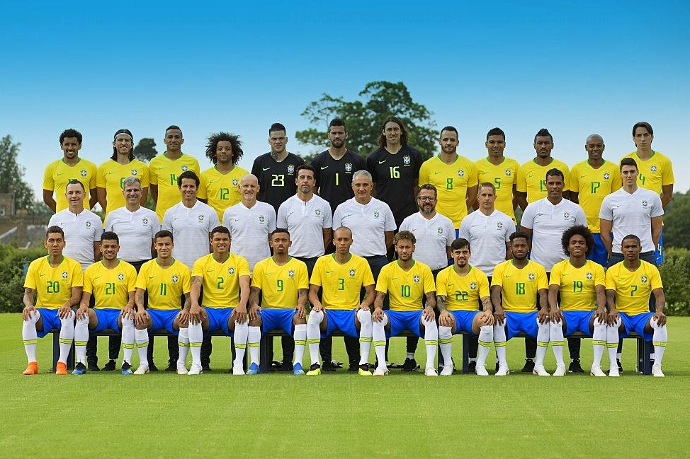FOTO OFICIAL DA SELEÇÃO BRASILEIRA DE FUTEBOL COPA DO MUNDO FIFA RUSSIA