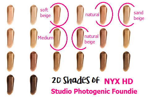 Shades NYX HD Studio Photogenic Foundation