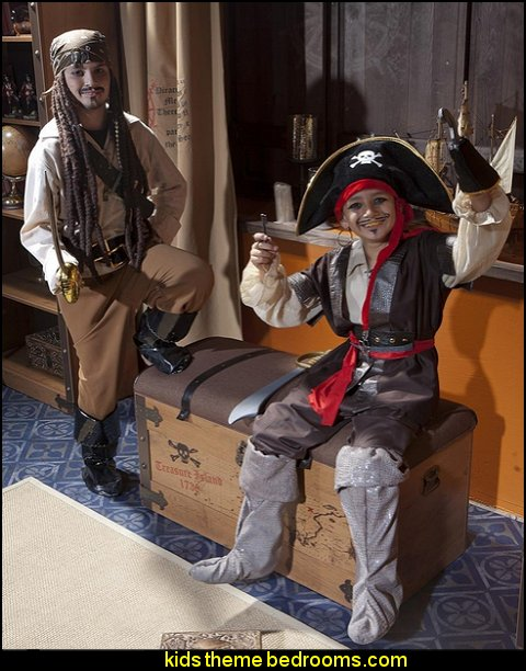 Treasure Chest  pirate bedrooms - pirate themed furniture - nautical theme decorating ideas - pirate theme bedroom decor - Peter Pan - Jake and the Never Land Pirates - pirate ship beds - boat beds - pirate bedroom decorating ideas - pirate costumes