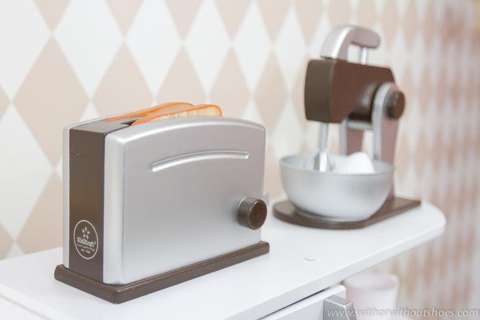 Accesorios de cocina de juguete madera Set de repostería y Set de tostadora Espresso de Kidkraft