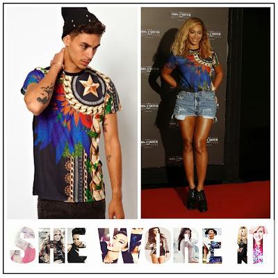 Beyonce, ASOS, Criminal Damage Della, Multi-Coloured, Red, Blue, Black, Green, Gold Chain, T-Shirt