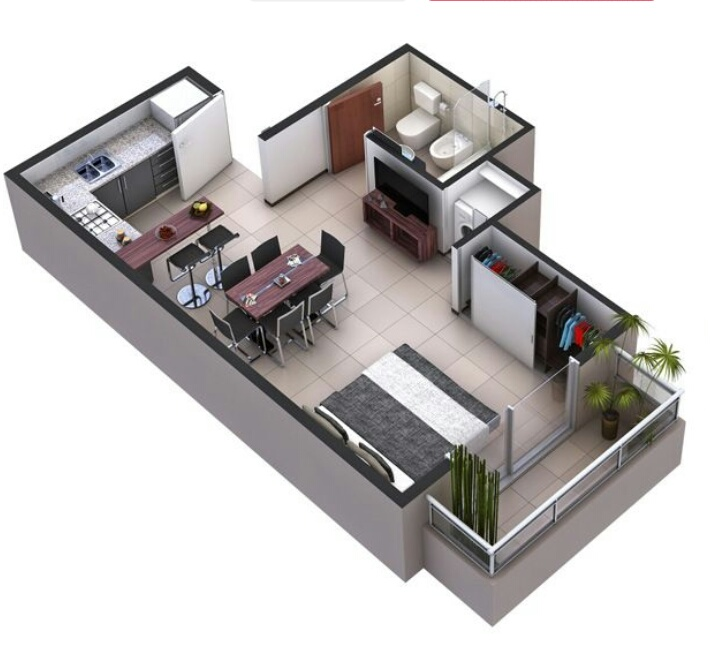 Rumah minimalis 1pintu utama dan 1 pintu alternatif