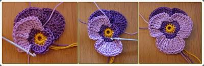 Tığ işi Çiçek Motif Yapımı 4