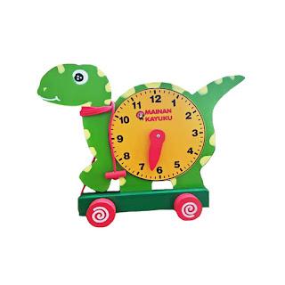 Mainan Jam Kayu