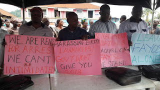 Ekiti lawmakers protest freezing of Fayose's accounts