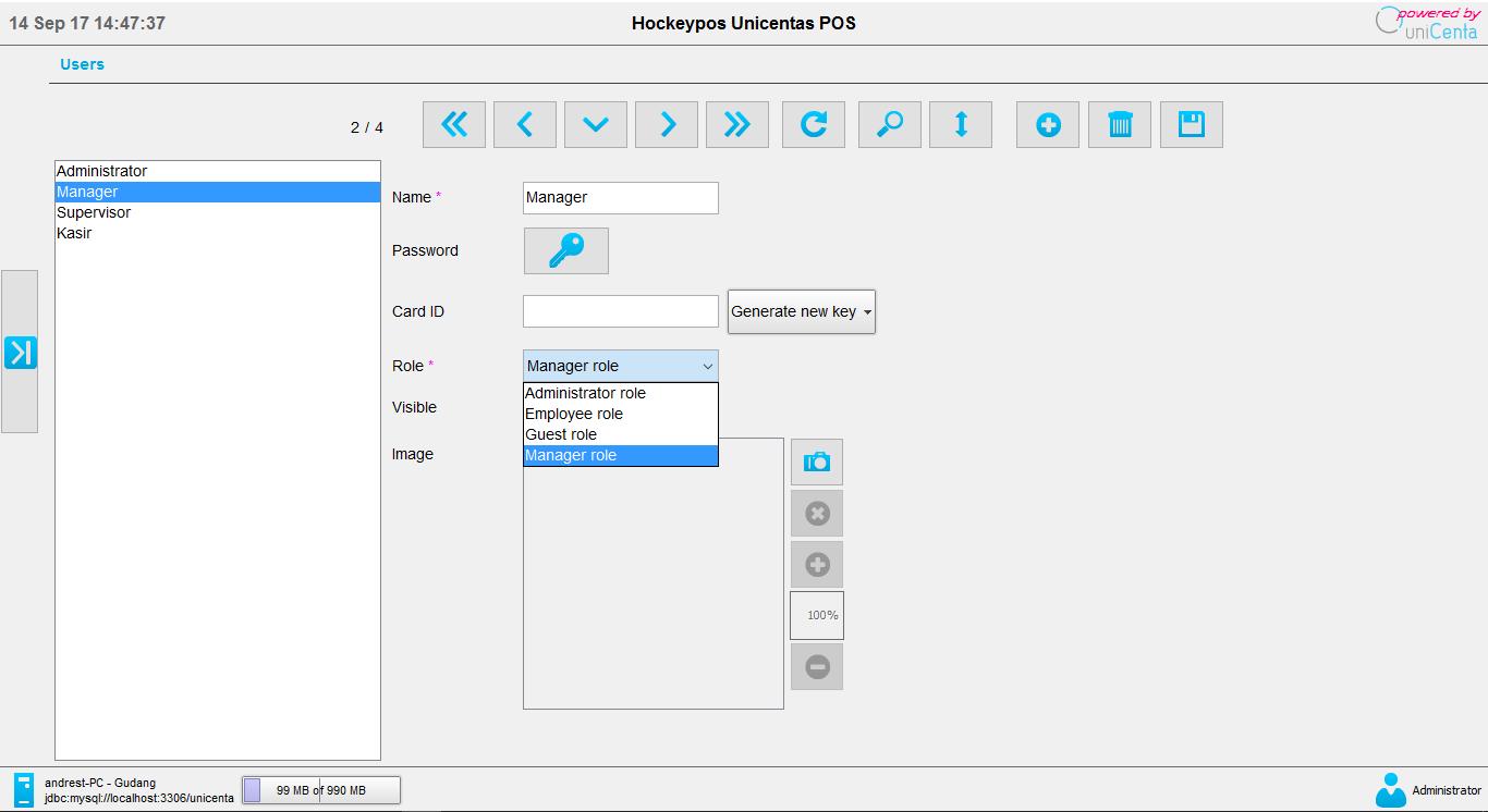 Software program aplikasi kasir gratis unipos - penjualan produk stok barang menu