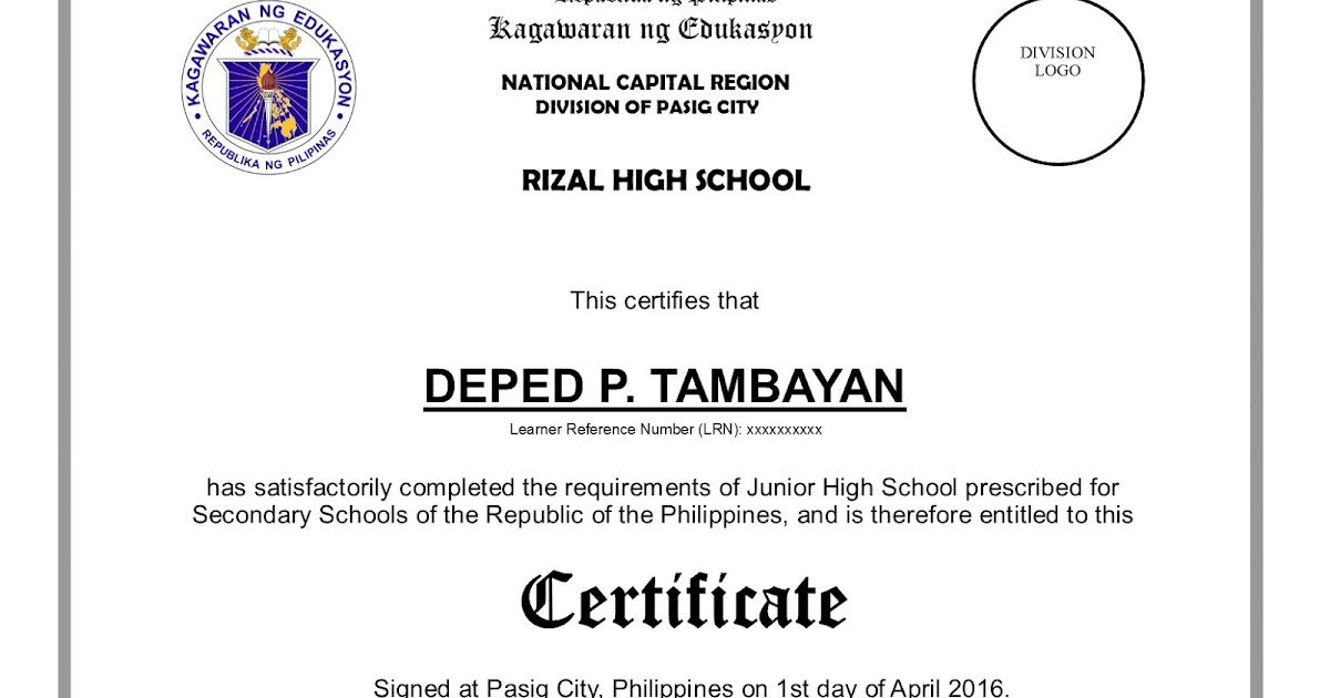 Sample certificate of recognition for honor pupils choice image sample certificate of recognition for honor pupils gallery sample certificate recognition brigada eskwela choice image sample yelopaper Images