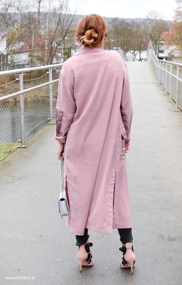 Altrosa Mantel für Damen aus leichtem Stoff