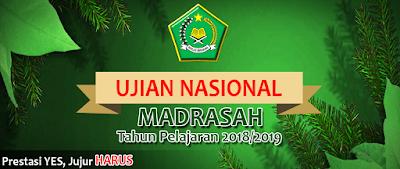Spanduk Penyambutan Ujian Nasional MADRASAH