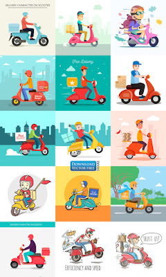 15-nen-do-hoa-nguoi-van-chuyen-hang-bang-xe-may-delivery-scooter-vector-7716