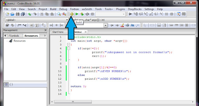 Command Line Argument in CodeBlocks