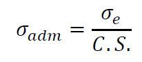 Fórmula da tensão admissível
