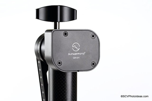Sunwayfoto GH-01 Carbon fiber Gimbal Head top rotator