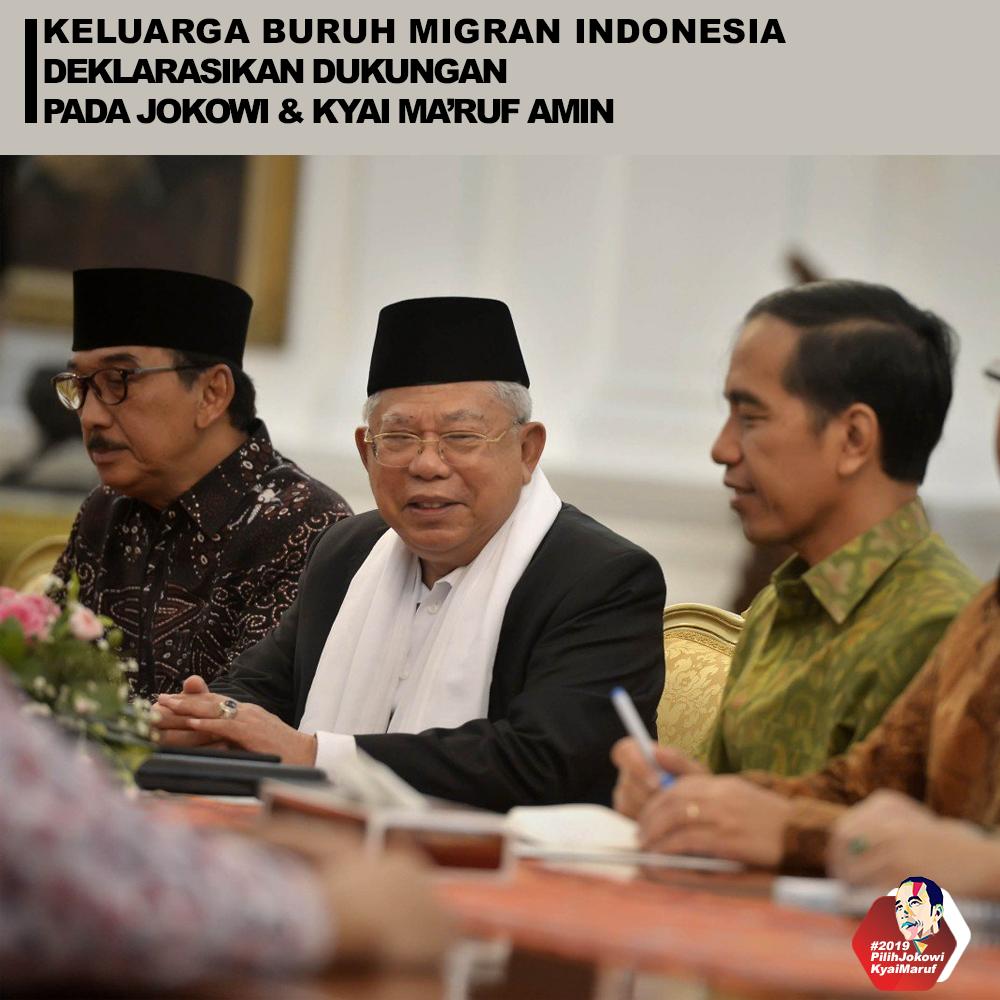 Keluarga Buruh Migran Indonesia Deklarasikan Dukungan Pada Jokowi & Kyai Ma'ruf Amin