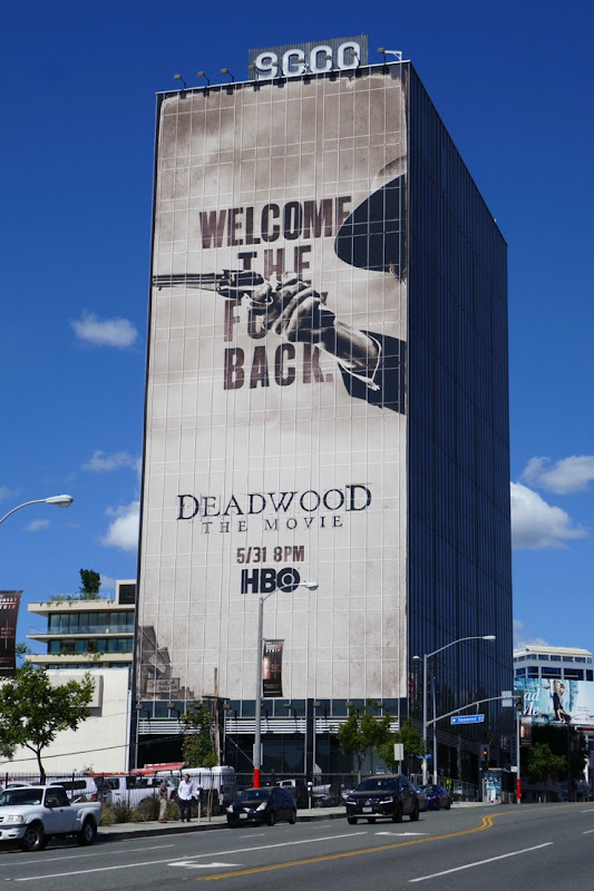 Giant Deadwood Movie billboard