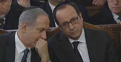 """Résultat de recherche d'images pour """"hollande netanyahu paris charlie synagogue"""""""