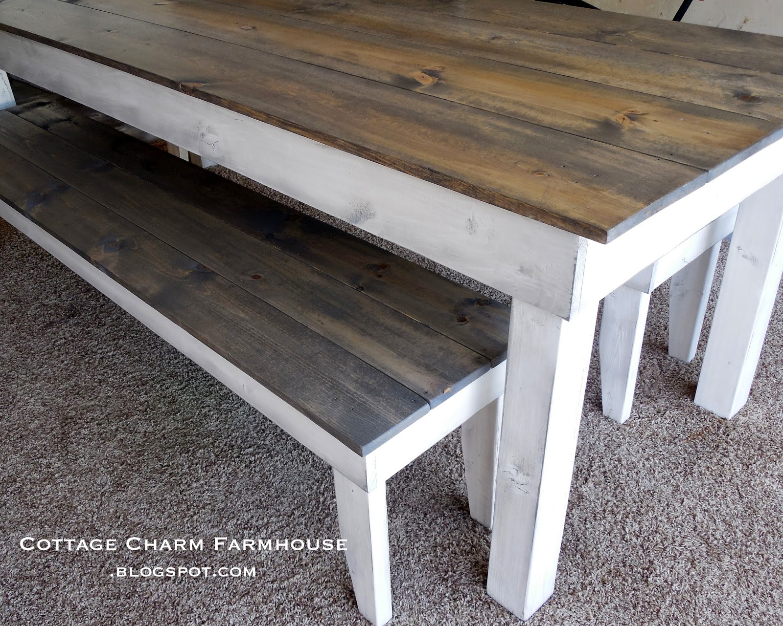Above Driftwood Stain W Antique White Distressed