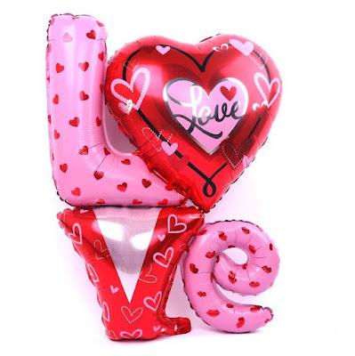 Balon Foil Love Letter Kombinasi