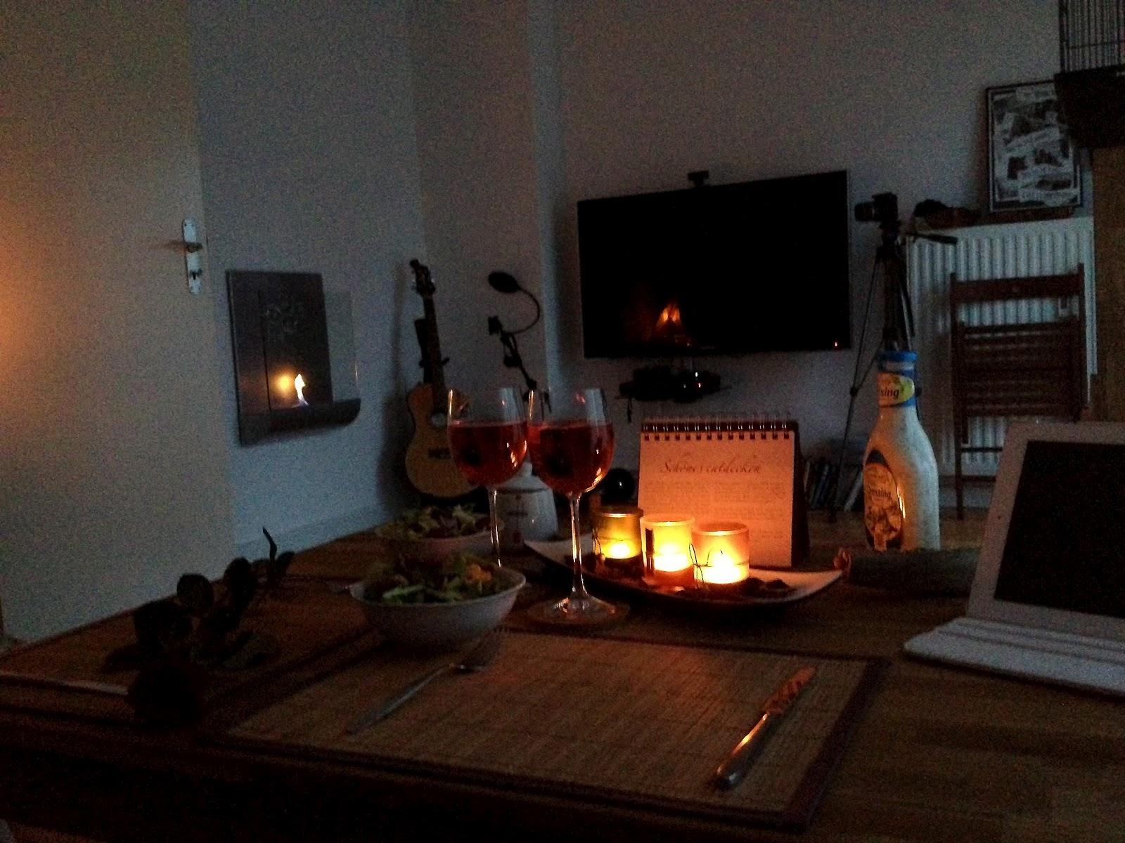mein neues leben ich romantisches abendessen zu zweit. Black Bedroom Furniture Sets. Home Design Ideas