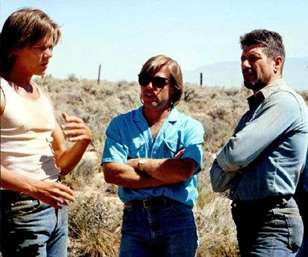 Kevin Bacon Fred Ward Ron Underwood on set 1990 Tremors