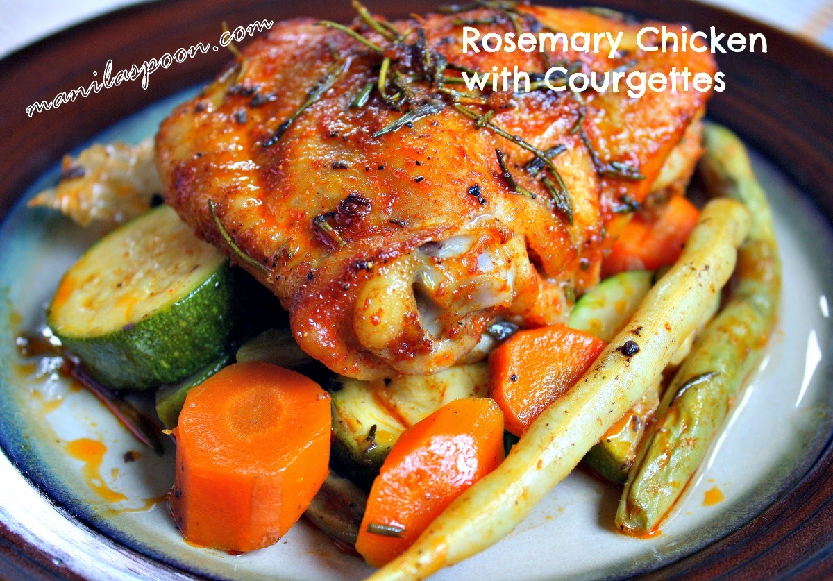 Rosemary Chicken with Courgettes (Zucchini)