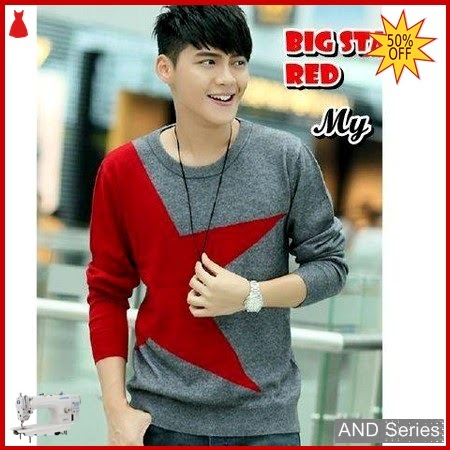 AND383 Sweater Pria Big Star Tribal Red BMGShop