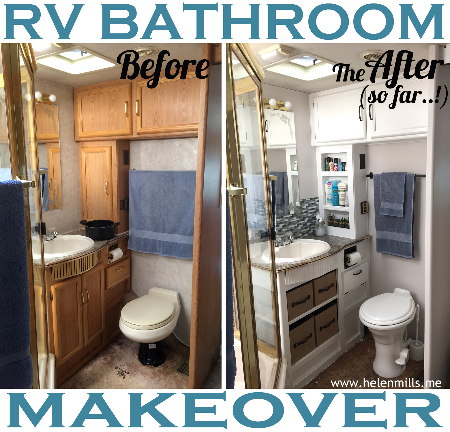 Shower Doors Over Bath What Happened Next Rv Renovation The Bathroom Edition