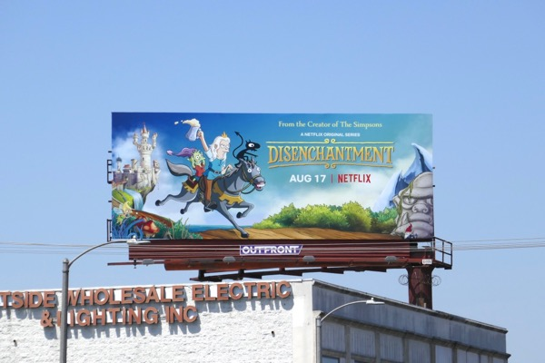 Disenchantment cartoon series billboard