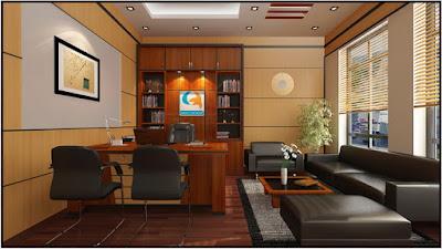 Thiết kế nội thất phòng giám đốc sang trọng và đẳng cấp