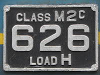 "Number plate of Class M2 General Motors EMD locomotive No 626 ""Montreal"""
