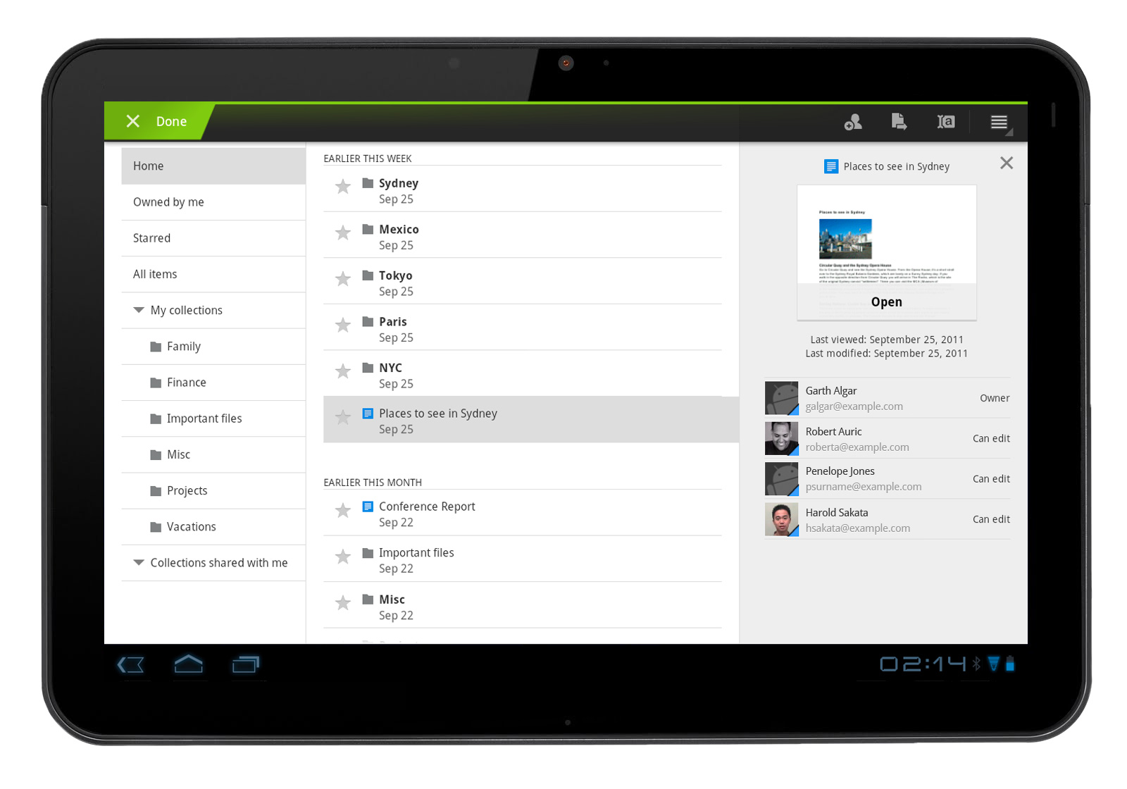 An Enhanced Docs Experience On Android Tablets