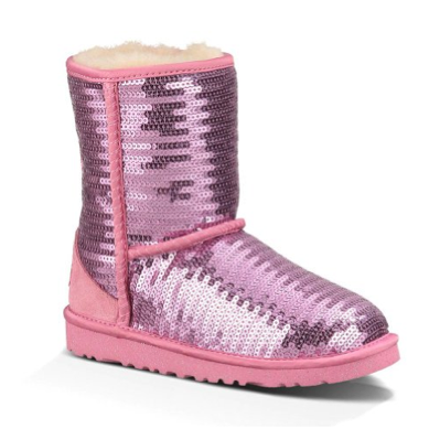 UGG Australia Kids Classic Short Sparkles Boot - pink