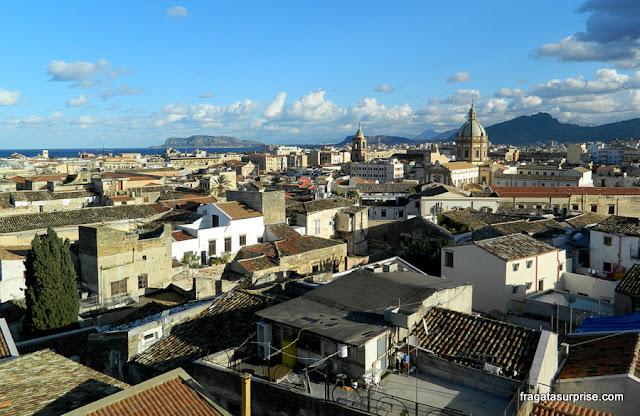 Palermo vista da torre da Igreja do Santíssimo Salvador