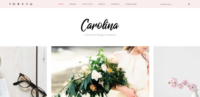 Carolina Free Blogger Template