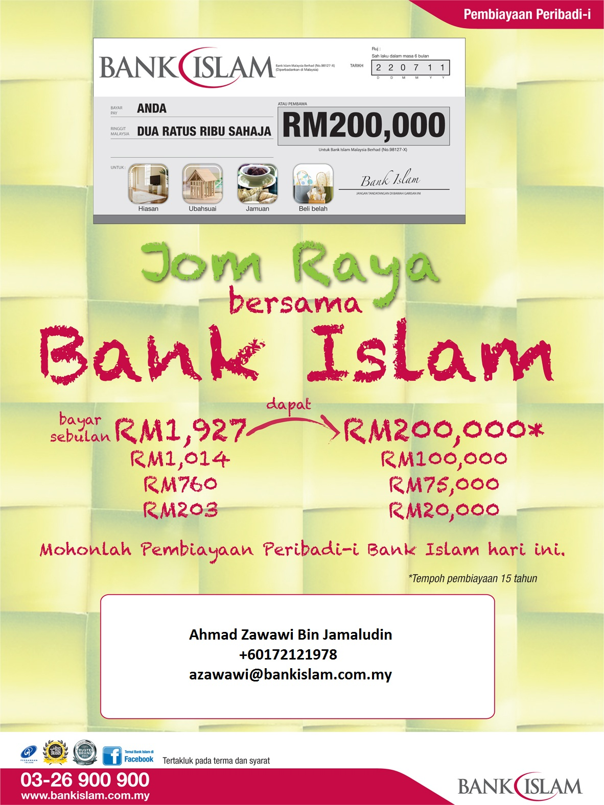My Social Network: Personal Financing-i @ Bank Islam for Panel + Private Company