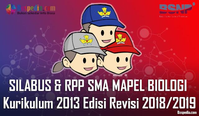 Silabus dan RPP Untuk Kelas 10,11,12 SMA MAPEL BIOLOGI Kurikulum 2013 Edisi Revisi 2018/2019