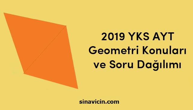 2019 YKS AYT Geometri Konuları ve Soru Dağılımı