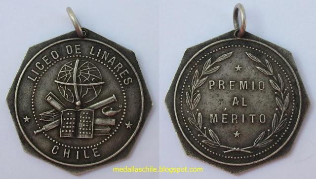 """Medalla Premio Liceo de Linares """"Valentin Letelier"""""""