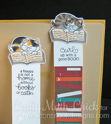 Newton kitty bookmarks by Crafty Math Chick | Newton's Book Club stamp set by Newton's Nook Designs
