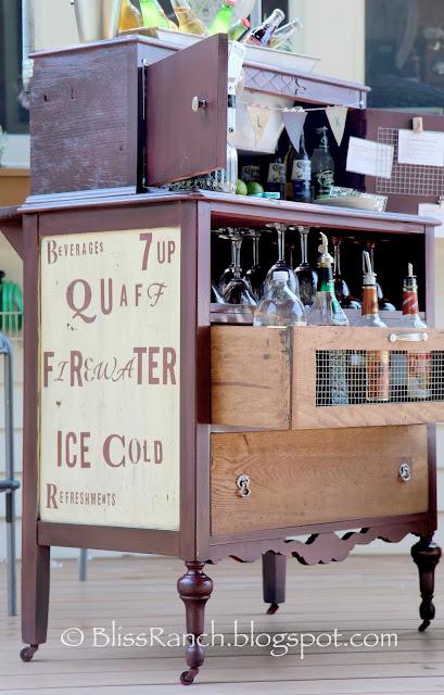 Dresser Turned Portable Bar, Bliss-Ranch.com